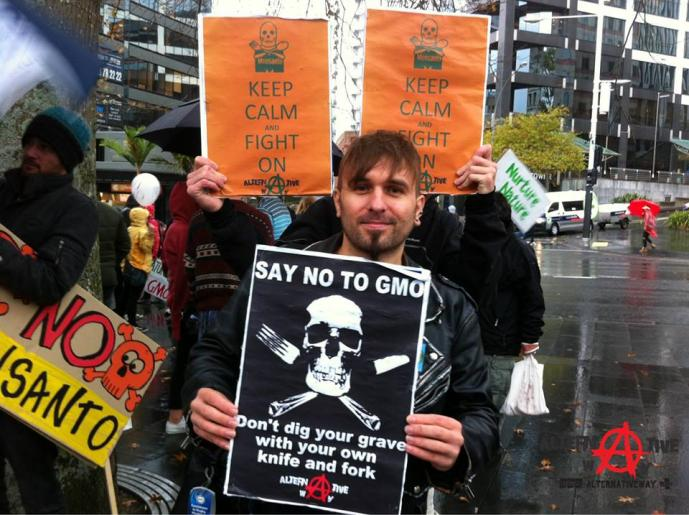New Zealanders protest for better food for world citizens